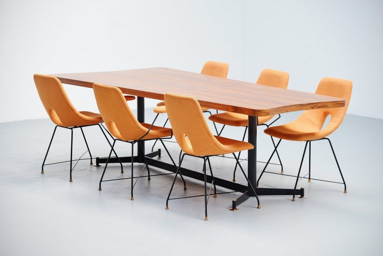 Ignazio Gardella attributed dining table Italy 1950