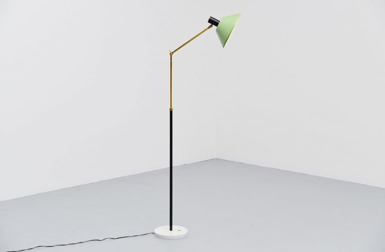 Stilux floor lamp with marble base Italy 1950