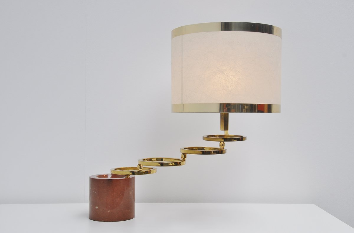 Banci Firenze Rotating Table Lamp With Marble Base Italy 1970 Massmoderndesign