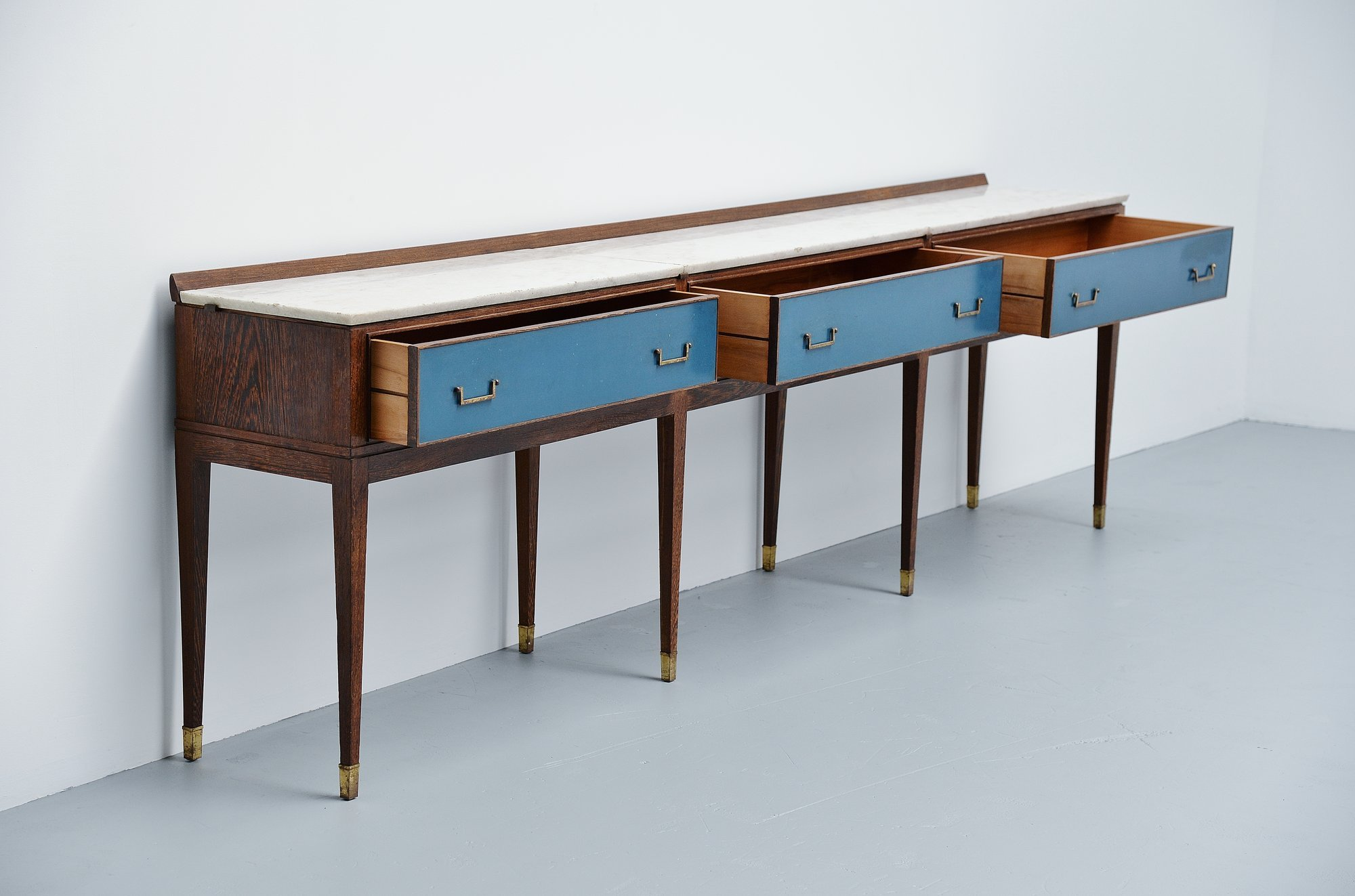 Long Italian art deco drawer console Italy 1940 ...