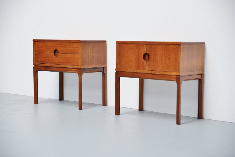 Aksel Kjersgaard night cabinets for Odder Denmark 1955