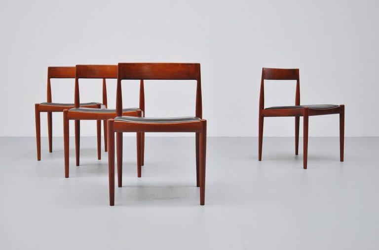 Kai Kristiansen Fritz Hansen dining chairs 1961