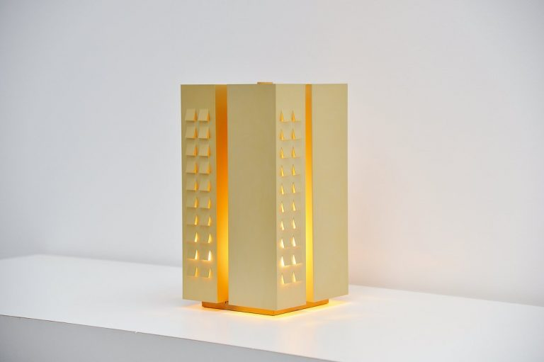 Raak gold aluminum table lamp 1970