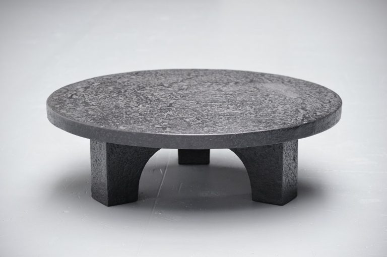 Brutalist coffee table in the manner of Ado Chale 1960