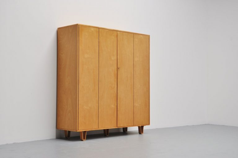 Large Pastoe KB04 wardrobe by Cees Braakman Holland 1954