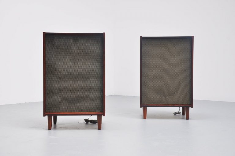 Bang & Olufsen Type K speakers in Rosewood Denmark 1964