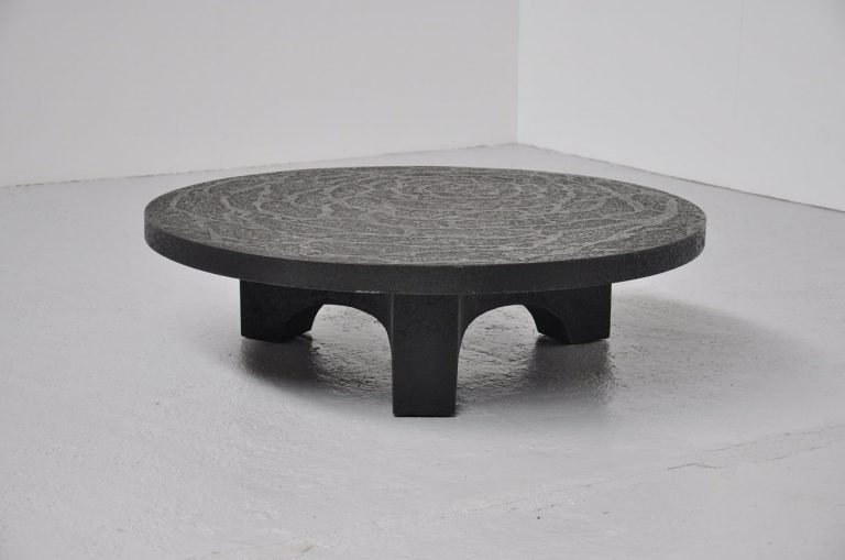 Brutalist Coffe table, Belgium 1970 like Ado Chale