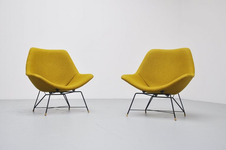 Augusto Bozzi Cosmos chairs for Saporiti Italia 1954