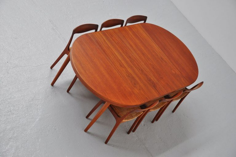Kai Kristiansen teak oval dining table 1960