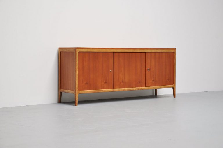 Hartmut Lohmeyer Wilkhahn credenza two tone wood 1959