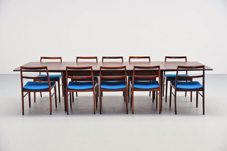 Arne Vodder 221 rosewood dining table Sibast Mobler 1960