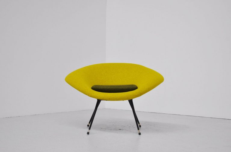 Italian chair with Divina Kvadrat fabric 1950