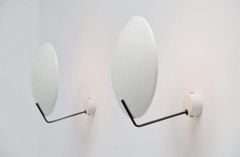 Bruno Gatta Stilnovo pair of wall lamps Italy 1954