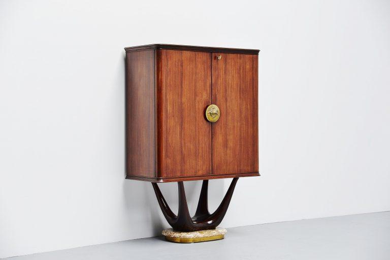 Vittorio Dassi dry bar cabinet Milano Italy 1950