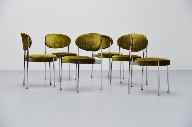 Verner Panton Thonet model 430 dining chairs 1967