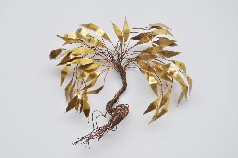 Daniel Dhaeseleer wall tree sculpture in brass Belgium 1970