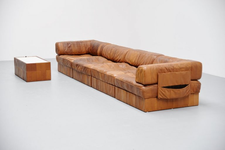De Sede DS88 leather patchwork sofa Switzerland 1970