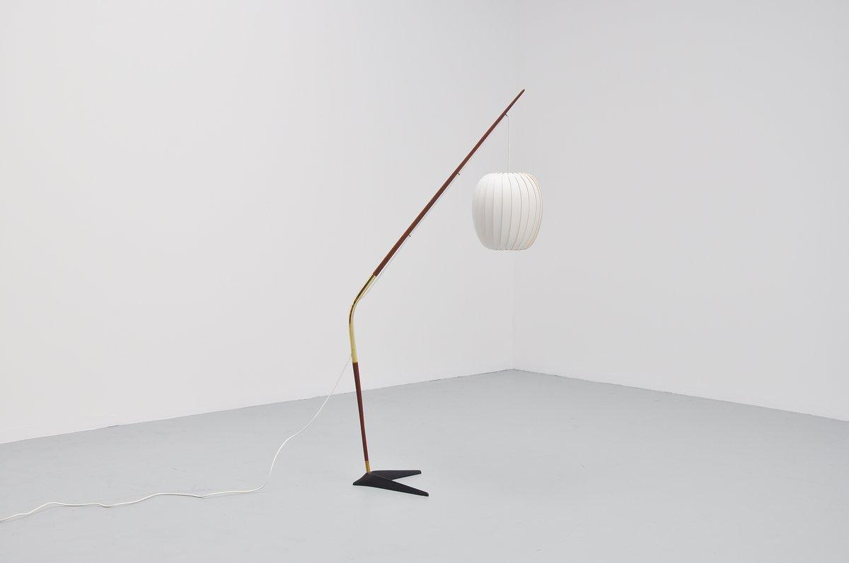 Svend Aage Holm Sorensen Arc Floor Lamp Denmark 1950
