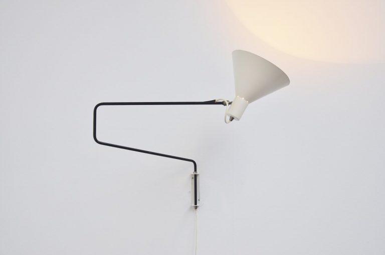 Anvia paperclip wall lamp JJM Hoogervorst 1955