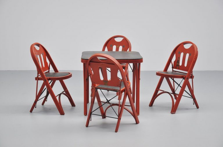 American foldable game table set USA 1960