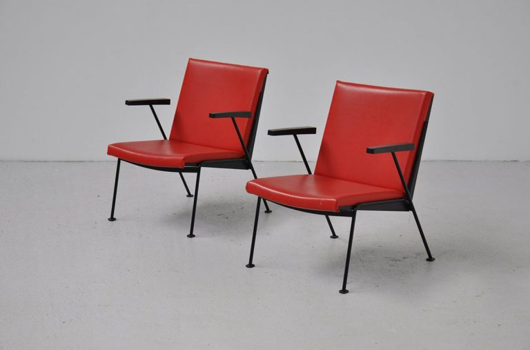 Wim Rietveld Oase chairs pair 1958