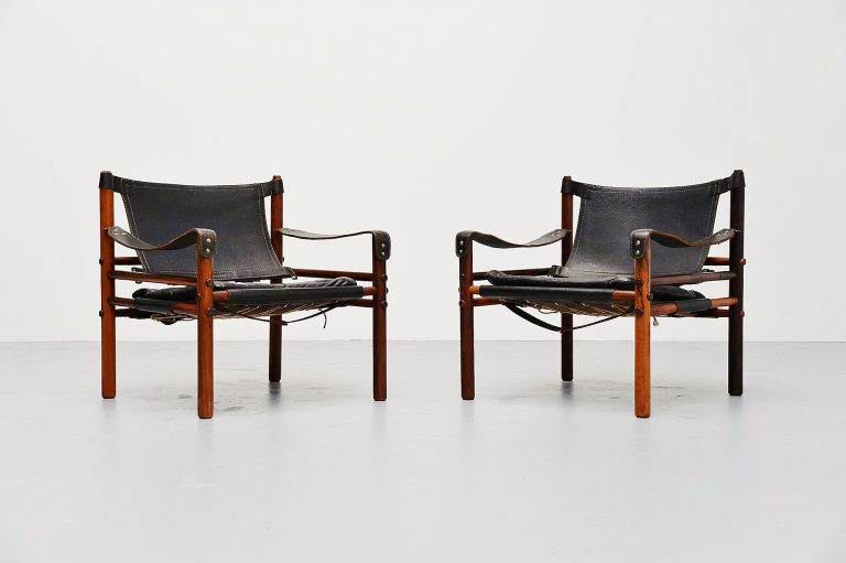 Arne Norell Sirocco safari chairs Sweden 1964