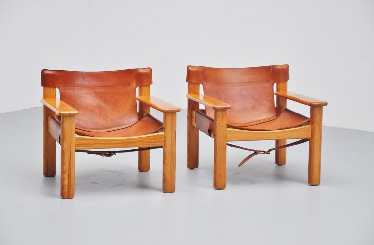 Pair of Bernt Petersen lounge chairs Sweden 1970