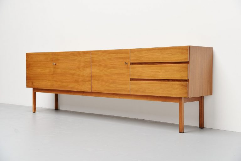 German modernist sideboard in walnut 1960