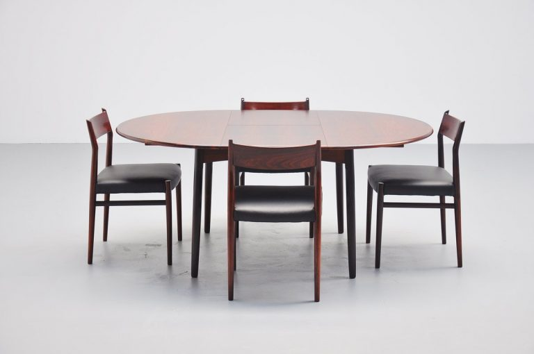 Niels Koefoed rosewood extendable dining table Denmark 1960