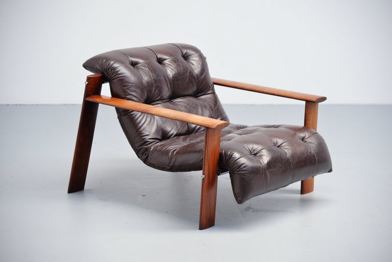 Percival Lafer low lounge chair Brazil 1960