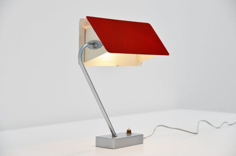 Jacques Biny 238 table lamp Luminalite France 1958