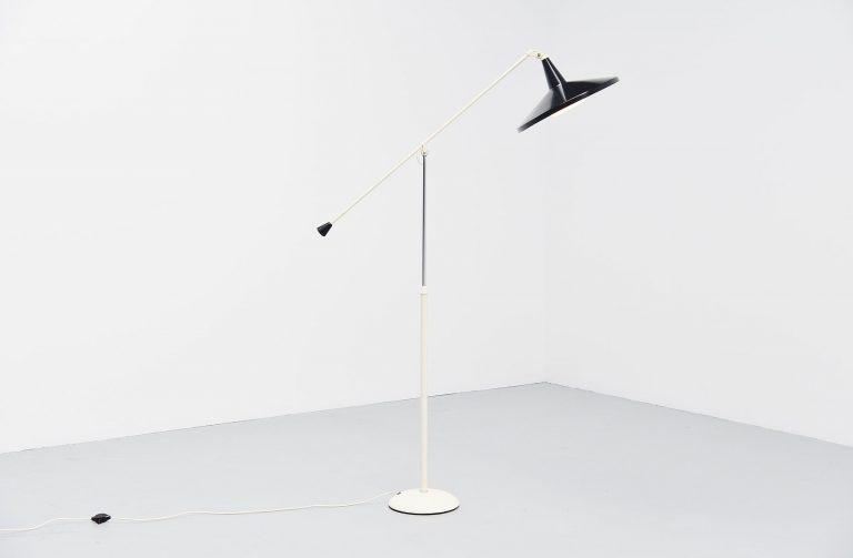 Wim Rietveld Panama floor lamp Gispen 1955