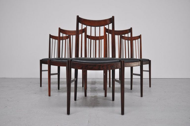 Arne Vodder high back chairs Sibast 1960