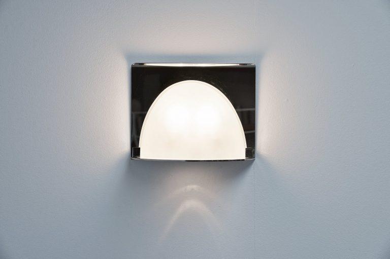 Azucena chrome wall lamp Italy 1970