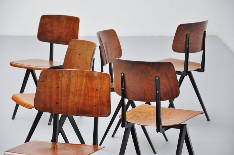 Galvanitas industrial chairs lot from 1970