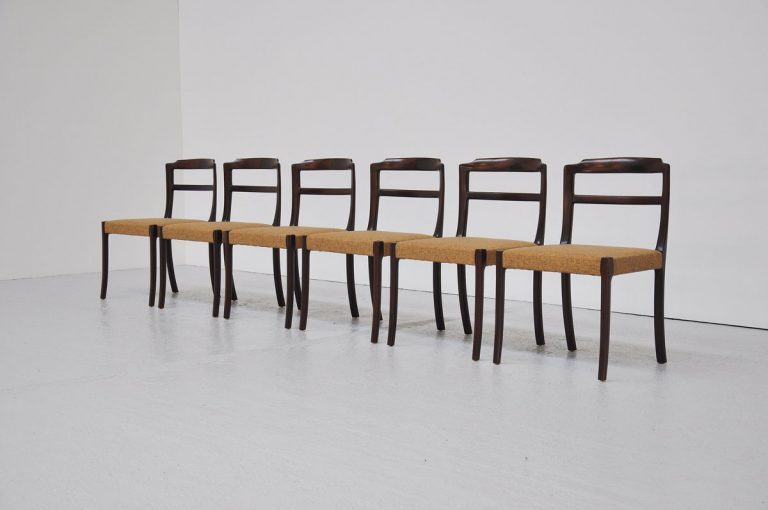 Ole Wanscher mahogany dining chairs 1965