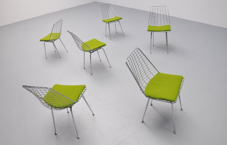 Artimeta wire frame dining chairs Holland 1970