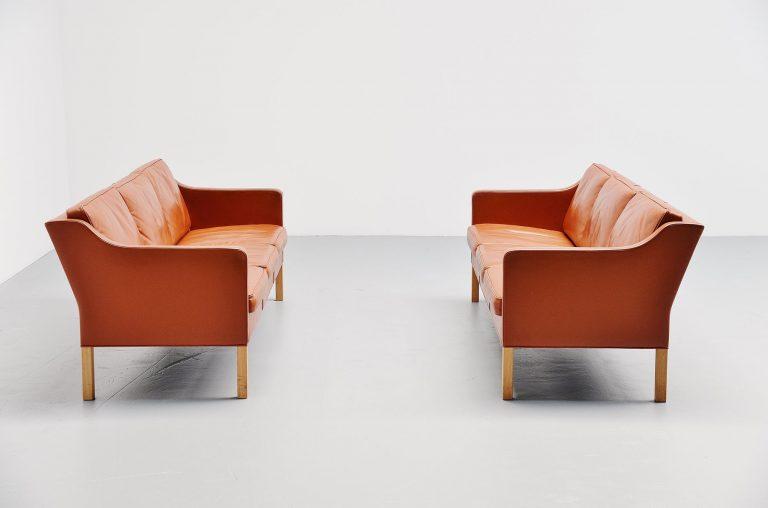 Borge Mogensen 2323 sofa pair Fredericia Denmark 1972