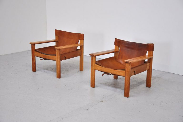 Bernt Petersen easy chairs Denmark 1970