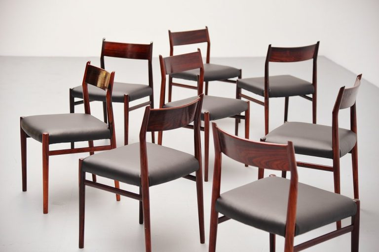 Arne Vodder dining chairs model 418 Sibast Mobler 1965