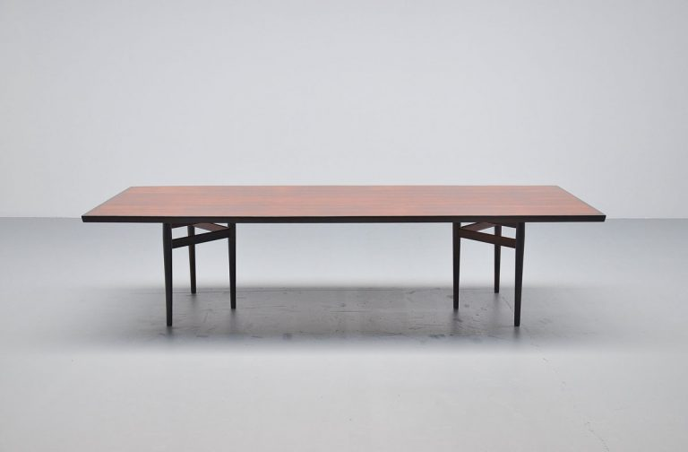 Arne Vodder rosewood conference table Sibast Mobler 1960