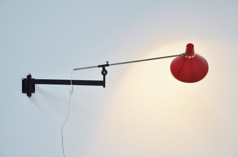 Artimeta swing arm wall lamp 1955