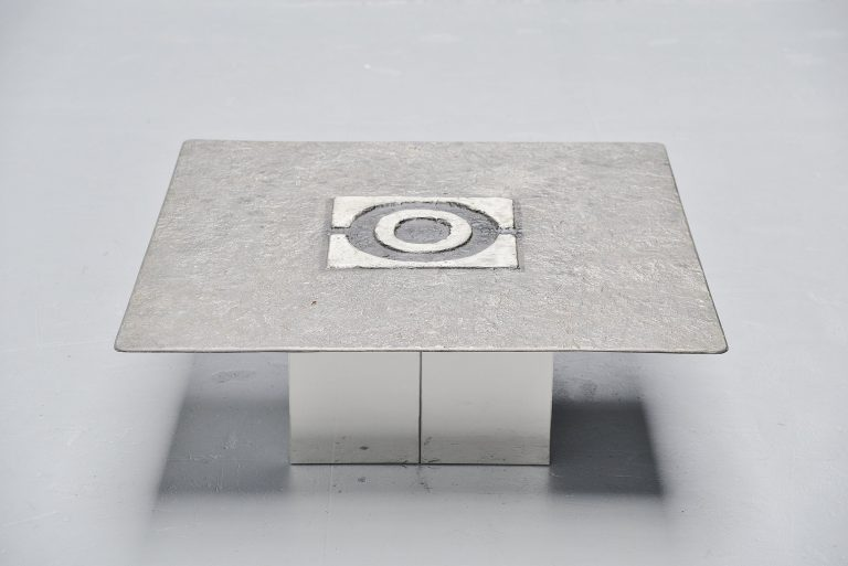 Willy Ceysens brutalist coffee table Neerpelt Belgium 1970