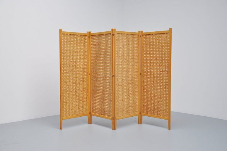 Albert Jansson folding screen room divider Sweden 1950