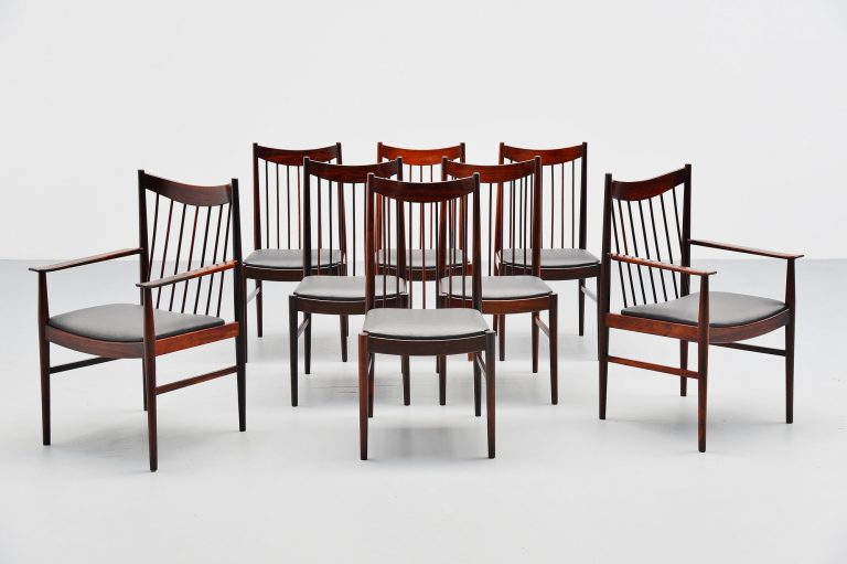 Arne Vodder high back chairs Sibast Mobler Denmark 1960