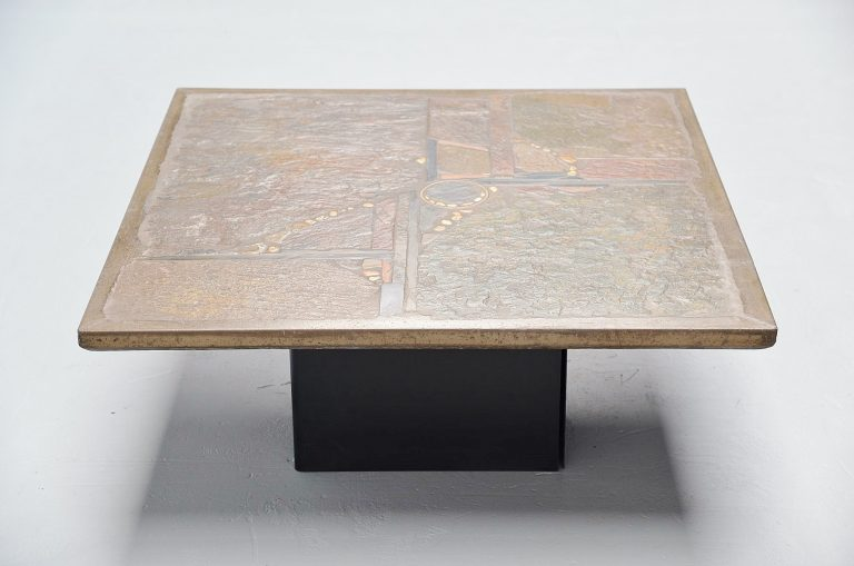 Paul Kingma large square coffee table Holland 1978