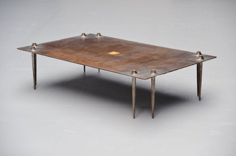 Idir Mecibah brutalist coffee table, Belgium 1998