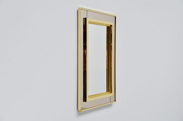 Romeo Rega style wall mounted mirror Italy 1970