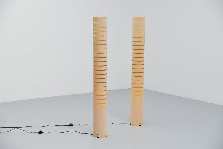 Ruud Jan Kokke Bron floor lamp pair Holland 1998