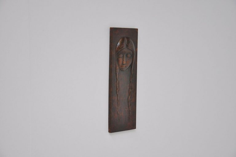 Antoni Najlepszy copper wall sculpture 1960